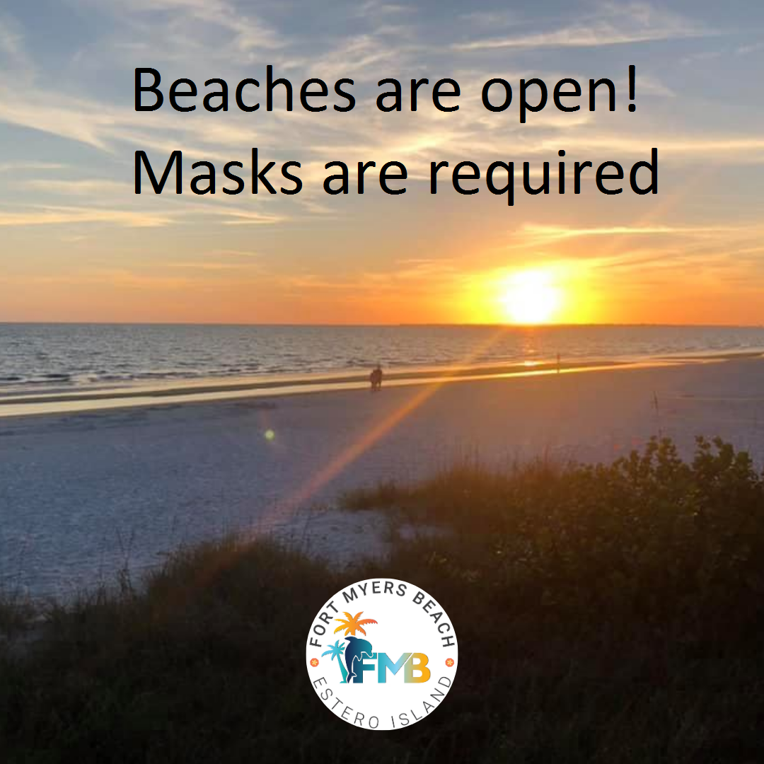 beaches open masks required