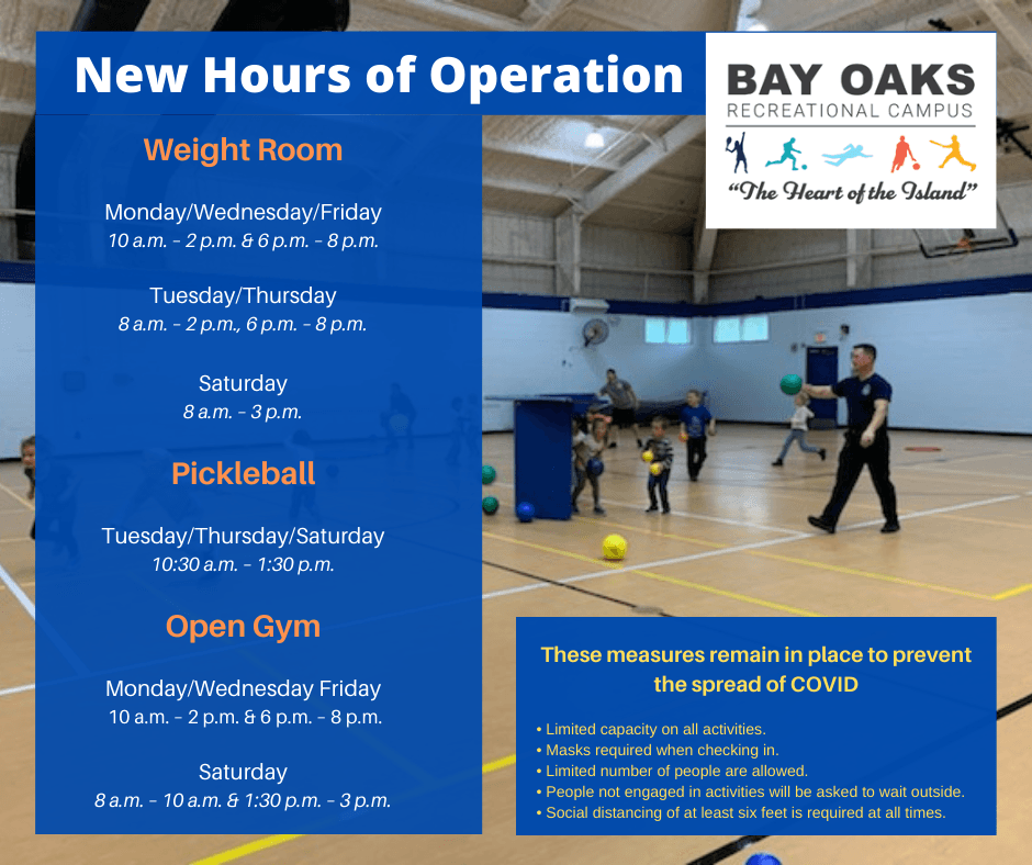 hours of operation bay oaks may 2021